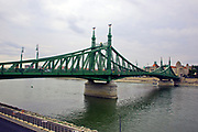 The Liberty Bridge, Budapest, Hungary over the Danube River