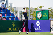Joakim Lagergren (SWE) on the 1st during Round 2 of the Commercial Bank Qatar Masters 2020 at the Education City Golf Club, Doha, Qatar . 06/03/2020<br /> Picture: Golffile | Thos Caffrey<br /> <br /> <br /> All photo usage must carry mandatory copyright credit (© Golffile | Thos Caffrey)