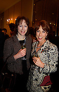 Rebeccah Fraser ( FitzGerald )  and Kathy Lette, Pen Media Biz Quiz, Savoy, 10 November 2003. © Copyright Photograph by Dafydd Jones 66 Stockwell Park Rd. London SW9 0DA Tel 020 7733 0108 www.dafjones.com