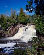 Upper Falls of the Gooseberry River, Gooseberry Falls State Park, Minnesota.