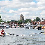 Havard mens four race <br /> <br /> Racing at the Henley Royal Regatta on The Thames river, Henley on Thames, England. Saturday 6 July 2019. © Copyright photo Steve McArthur / www.photosport.nz