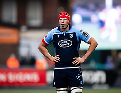 Seb Davies of Cardiff Blues<br /> <br /> Photographer Simon King/Replay Images<br /> <br /> Guinness PRO14 Round 2 - Cardiff Blues v Edinburgh - Saturday 5th October 2019 -Cardiff Arms Park - Cardiff<br /> <br /> World Copyright © Replay Images . All rights reserved. info@replayimages.co.uk - http://replayimages.co.uk