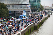 Totally Thames takes place over the whole month in September, combining arts, cultural and river events presented by Thames Festival Trust throughout the 42-mile stretch of the River Thames in London, UK.