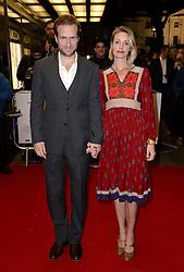 Rafe Spall and wife Elize Du Toit arriving at the UK Premiere of Mum's List, Curzon Cinema, London.<br /> Photo credit should read: Doug Peters/EMPICS Entertainment
