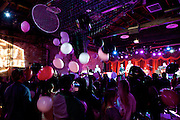Brooklyn, NY - February 18, 2015: Balloons dropped at the end of a performance by rapper Talib Kweli at a party hosted by Mediacom at Brooklyn Bowl in Williamsburg. The event celebrated the advertising firm's winning the title of Agency of the Year.<br /> <br /> CREDIT: Clay Williams for Mediacom.<br /> <br /> © Clay Williams / claywilliamsphoto.com