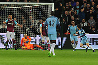 Football - 2016 / 2017 Premier League - West Ham United vs. Manchester City<br /> <br /> David Silva of Manchester City scores the 2nd goal past a dejected Darren Randolph at The London Stadium.<br /> <br /> COLORSPORT/ANDREW COWIE