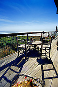 Image of a patio overlooking the Pacific Ocean in Yachats, Oregon, Pacific Northwest, property released by Andrea Wells