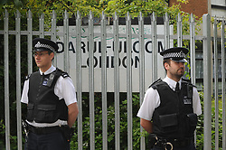 © Licensed to London News Pictures. 10/06/2013<br /> Police officers at the Darul Uloom Islamic school Chislehurst,Kent late this afternoon (10.06.2013) protecting the students and property after a suspicious fire.Police will be at the school 24/7.  Four teenagers have been arrested.<br /> Photo credit :Grant Falvey/LNP