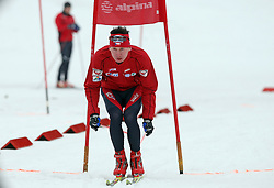 Czech cross-country skier Lukas Bauer (the best in 2007/2008 season in the world) at Alpina presentation of new cross-country shoes with red dot award: product design, on April 24, 2008, in Pokljuka, Rudno polje, Slovenia.  (Photo by Vid Ponikvar / Sportal Images)/ Sportida)