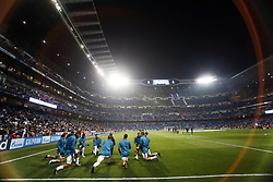 December 6, 2017 - Madrid, Spain - Real Madrid team during the warm-up of the team before the game match between Real Madrid and Borussia Dortmund at Santiago Bernabéu. (Credit Image: © Manu_reino/SOPA via ZUMA Wire)