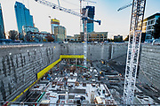 Construction site at the corner of Fairview Ave and Denny Way in the Cascade neighborhood of Seattle, Washington, USA  11/10/17
