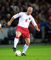 Football, EM-kvalifisering, Norge - Wales 3-2, Ullevaal stadion 5. september 2001. John Hartson, Wales og Celtic