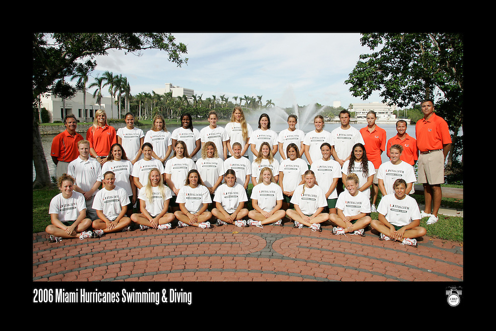 2006 Miami Hurricanes Swimming & Diving Team Photo