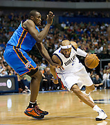 Vince Carter (25) of the Dallas Mavericks drives to the basket against the Oklahoma City Thunder at the American Airlines Center in Dallas on Sunday, March 17, 2013. (Cooper Neill/The Dallas Morning News)