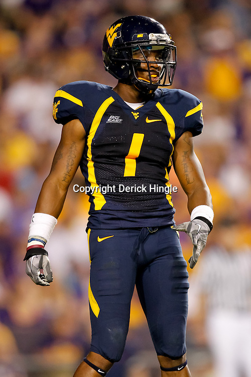 Sep 25, 2010; Baton Rouge, LA, USA; West Virginia Mountaineers wide receiver Tavon Austin (1) on the field against the LSU Tigers during the first half at Tiger Stadium.  Mandatory Credit: Derick E. Hingle