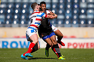 Bradford Bulls Jonathon Campbell (19) is stopped during the Kingstone Press Championship match between Rochdale Hornets and Bradford Bulls at Spotland, Rochdale, England on 18 June 2017. Photo by Simon Davies.