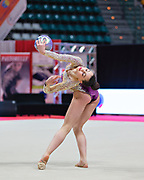 Eva Gherardi from Armonia D'Abruzzo team during the Italian Rhythmic Gymnastics Championship in Bologna, 9 February 2019.