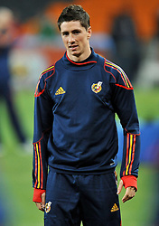 10.07.2010, Soccer City Stadium, Johannesburg, RSA, FIFA WM 2010, Training Spanien im Bild Fernando Torres, EXPA Pictures © 2010, PhotoCredit: EXPA/ InsideFoto/ Perottino *** ATTENTION *** FOR AUSTRIA AND SLOVENIA USE ONLY! / SPORTIDA PHOTO AGENCY