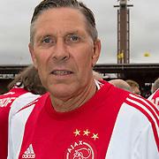 Amsterdam, 03-07-2013. Oud-Ajaxied Sjaak Swart wordt 75 jaar en krijgt een jubileumwedstrijd in het Olympisch Stadion te Amsterdam. Vele oud-Ajax gedienden waren uitgenodigd. Mr. Ajax - Sjaak Swart maakte deel uit van oud-Ajax elftal. Foto:; Arnold Muhren.