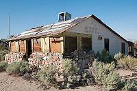 Abandoned roadside cafe on US Highway 395 near Cartago, California