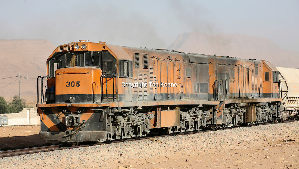 train in the Jordanian desert
