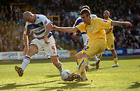 Photo: Tony Oudot.<br />Queens Park Rangers v Sheffield Wednesday. Coca Cola Championship. 10/03/2007.<br />Tommy Spurr of Sheffield Wednesday gets a shot in past Danny Cullip of QPR
