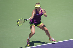 March 25, 2018 - Miami, FL, United States - KEY BISCAYNE, FL - March, 25: Kiki Bertens (NED) in action here,  plays Venus Williams (USA) at the 2018 Miami Open held at the Tennis Center at Crandon Park.   Credit: Andrew Patron/Zuma Wire (Credit Image: © Andrew Patron via ZUMA Wire)