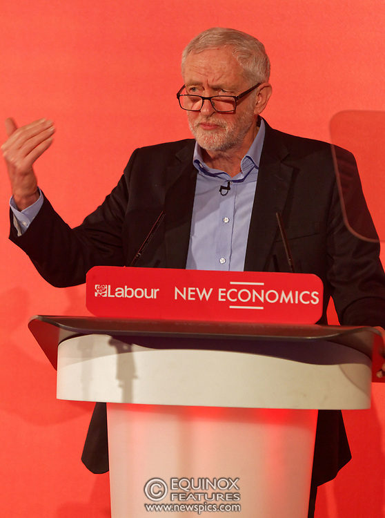 London, United Kingdom - 10 February 2018<br /> Leader of the Labour Party Jeremy Corbyn, speaking at the Labour Party's Alternative Models of Ownership Conference where he spoke about new 21st century forms of democratic ownership of industries.<br /> www.newspics.com/#!/contact<br /> (photo by: EQUINOXFEATURES.COM)<br /> Picture Data:<br /> Photographer: Equinox Features<br /> Copyright: ©2018 Equinox Licensing Ltd. +448700 780000<br /> Contact: Equinox Features<br /> Date Taken: 20180210<br /> Time Taken: 15571752