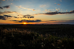 The sunsets in grand fashion over the fields and prairie in Central Illinois on June 13th, 2020