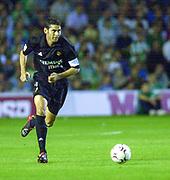 Photo Peter Spurrier<br /> 14/09/2002<br /> 2002 Real Betis vs Real Madrid  - Spanish Liga <br /> Real Madrid  defender, Fernando Hierro,