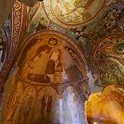 Frescoes in Sandal Church, Goreme, Cappadocia, Turkey