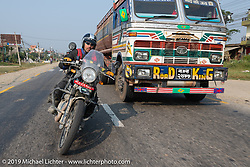 Jason Adamski riding a Royal Enfield Himalayan in Motorcycle Sherpa's Ride to the Heavens motorcycle adventure in the Himalayas of Nepal. Riding from Chitwan to Daman. Tuesday, November 12, 2019. Photography ©2019 Michael Lichter.