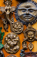 Handicrafts at a shop, Bashisht, near Manali, Himachal Pradesh, India.
