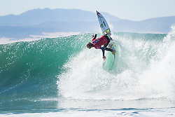Jul 17, 2017 - Jeffries Bay, South Africa - Current equal No. 3 on the Jeep Leaderboard Owen Wright of Australia advances to Round Three of the Corona Open J-Bay after defeating rookie Ethan Ewing of Australia in Heat 3 of Round Two in pumping Supertubes. (Credit Image: © Kelly Cestari/World Surf League via ZUMA Wire)