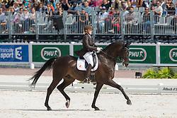 Ann Cathrin Lubbe, (NOR), Porsborggaardens Donatello - Freestyle Test Grade III Para Dressage - Alltech FEI World Equestrian Games™ 2014 - Normandy, France.<br /> © Hippo Foto Team - Leanjo de Koster<br /> 25/06/14