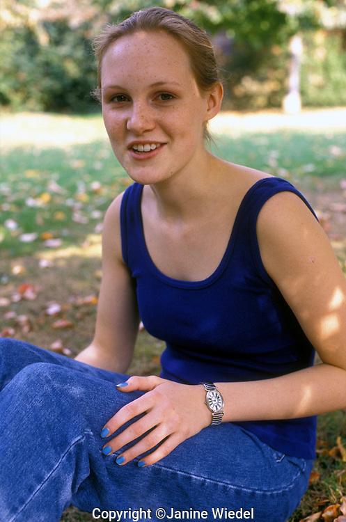 portrait of teenaged girl.