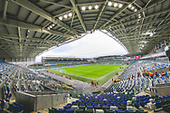 General view inside the National Football Stadium at Windsor Park ahead of the UEFA European 2020 Qualifier match between Northern Ireland and Estonia at National Football Stadium, Windsor Park, Northern Ireland on 21 March 2019.
