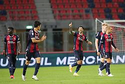 """Foto Filippo Rubin<br /> 28/09/2020 Bologna (Italia)<br /> Sport Calcio<br /> Bologna - Parma - Campionato di calcio Serie A 2020/2021 - Stadio """"Renato """"Dall'Ara<br /> Nella foto: ESULTANZA SECONDO GOAL BOLOGNA ROBERTO SORIANO (BOLOGNA FC)<br /> <br /> Photo Filippo Rubin<br /> September 28, 2020 Bologna (Italy)<br /> Sport Soccer<br /> Bologna vs Parma - Italian Football Championship League A 2020/2021 - """"Renato Dall'Ara"""" Stadium <br /> In the pic: CELEBRATION 2ND GOAL BOLOGNA ROBERTO SORIANO (BOLOGNA FC)"""