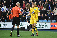 Football - Championship - Millwall vs. Crystal Palace <br /> Jonathan Parr (Palace) complains to the Referee Mr.Roger East