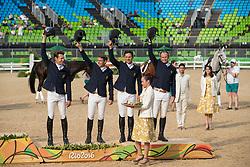 Team Australia Bronze medal, Burton Christopher, Griffits Sam, Tinney Stuart, AUS<br /> Olympic Games Rio 2016<br /> © Hippo Foto - Dirk Caremans<br /> 09/08/16
