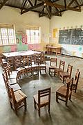 View of empty classroom, The Musoto Christian School, Uganda