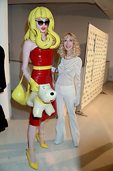 PANDEMONIA and BASIA BRIGGS at the Macmillan De'Longhi Art Auction 2013 held at the Royal College of Art, London on 23rd September 2013.