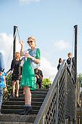 LAURA BAILEY,  CHARLES FINCH'S CHUCS SWIMATHON 2013, SERPENTINE, Hyde Park, London. 4 July 2013.