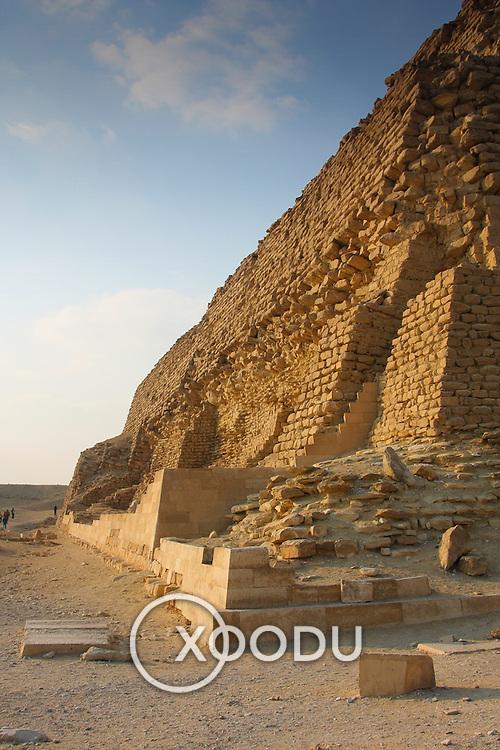Zoser (Djoser) Step Pyramid at Saqqara, Saqqara (Sakkara), Egypt (January 2008)