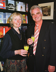 MRS HILARY du PRÉ and her brother MR PIERS du PRÉ brother and sister of Jacqui du PRÉ the late famous musician, at a party in London on 28th April 1999.MRN 62