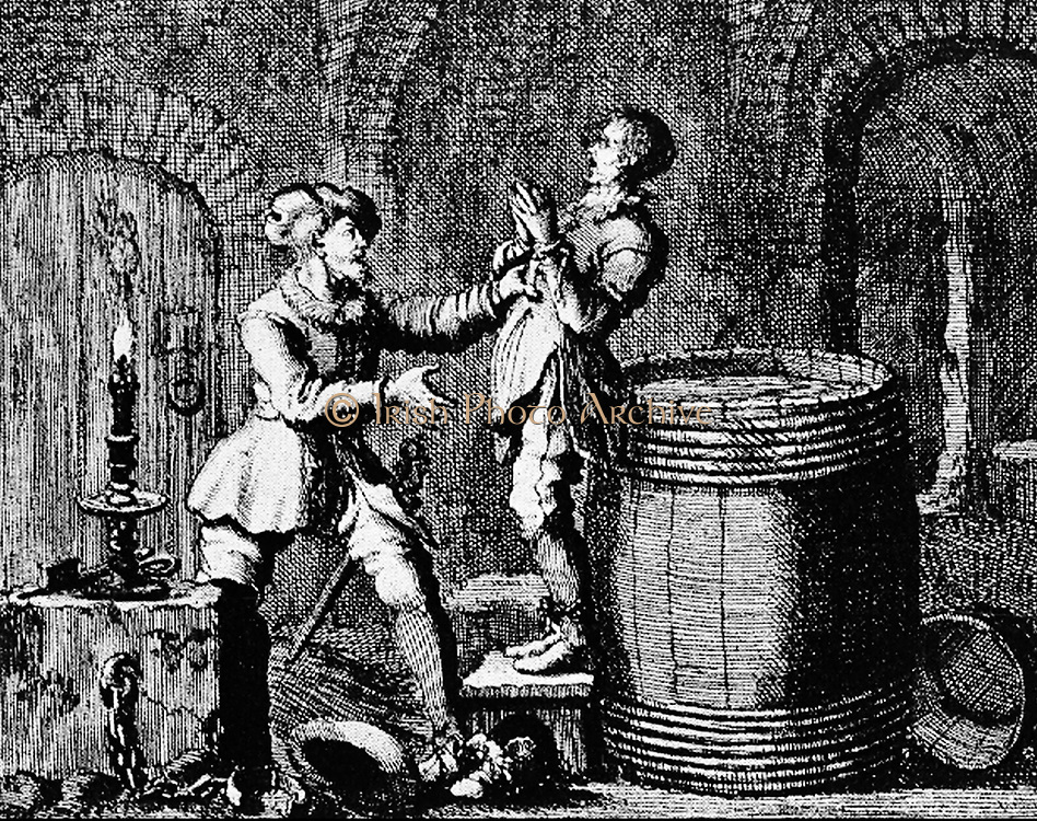 Swings George, Mayor of Meenan, then a cloth dyer at Dordrecht, is October 2 1558 in the cellar drowned in a wine barrel.