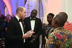 The Duke of Cambridge talks to guests during the Tusk Conservation Awards at Banqueting House, London.