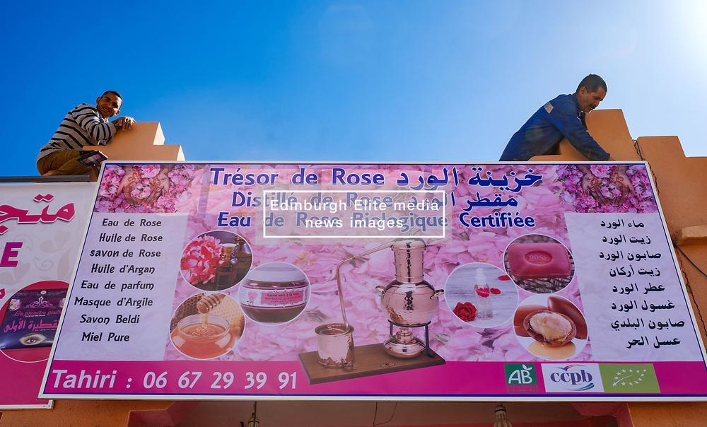 El Kelaa Des M'Gouna, the rose capital of Morocco prepares for the annual Rose Festival held in early May<br /> <br /> (c) Andrew Wilson | Edinburgh Elite media