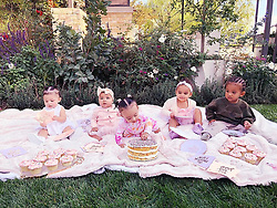 """Khloe Kardashian releases a photo on Instagram with the following caption: """"\ud83d\udc95 Cousin Cupcake Party!!! \ud83d\udc95 Keeping Up With The Kousins \ud83d\udc95"""". Photo Credit: Instagram *** No USA Distribution *** For Editorial Use Only *** Not to be Published in Books or Photo Books ***  Please note: Fees charged by the agency are for the agency's services only, and do not, nor are they intended to, convey to the user any ownership of Copyright or License in the material. The agency does not claim any ownership including but not limited to Copyright or License in the attached material. By publishing this material you expressly agree to indemnify and to hold the agency and its directors, shareholders and employees harmless from any loss, claims, damages, demands, expenses (including legal fees), or any causes of action or allegation against the agency arising out of or connected in any way with publication of the material."""