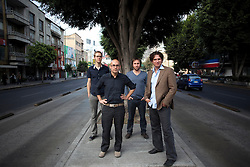 Left to right: Wonne Icks,, Carlos Bedoya, Abel Perles and Victor Jaime of Productora stand outside their office in Mexico City.